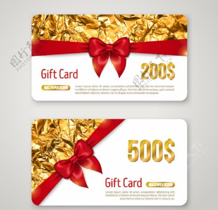 创意丝带礼品卡图片