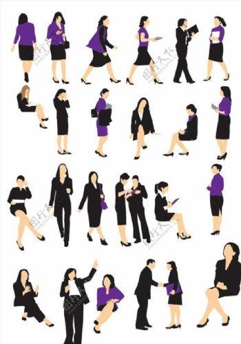 商务女性矢量图片