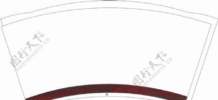 个性纸杯平面图图片