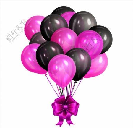 精美气球束矢量图片
