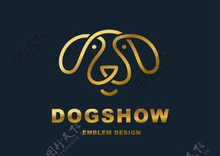狗狗元素标志图片
