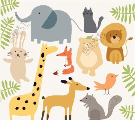 简洁可爱动物图片
