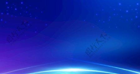 蓝色科技光背景图片