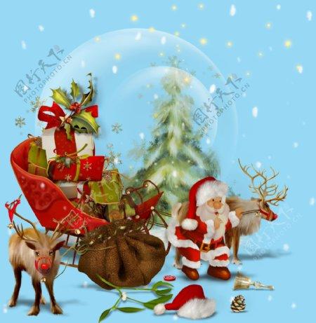 圣诞节装饰素材图片