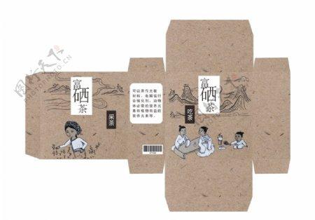 茶叶盒包装展开图图片