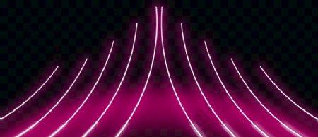 霓虹线条立体黑色背景图片