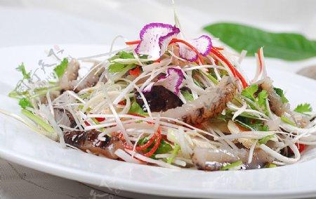 鄂菜炝拌海豚图片