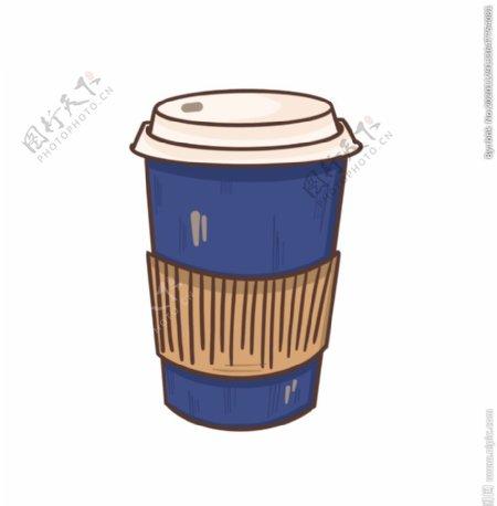 手绘咖啡纸杯图片