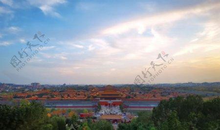 北京紫禁城故宫博物馆全景图片