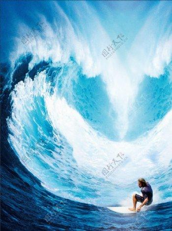 蓝色展板背景图图片