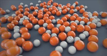 C4D模型抽象几何橙色大理石图片