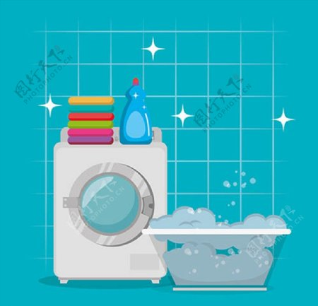 洗衣清洁产品广告图片