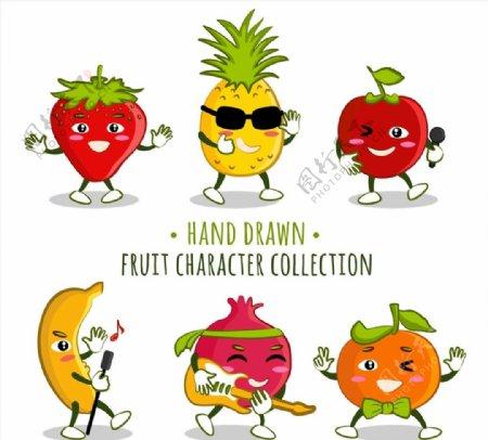 卡通表情水果图片