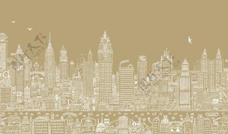 素描城市图片