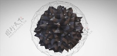 C4D模型动画旋转的球体线性图片
