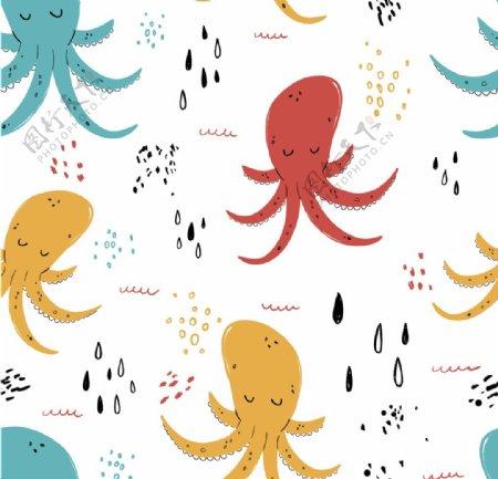 章鱼八爪鱼海底世界各种鱼图片