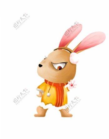 卡通兔子形象图片