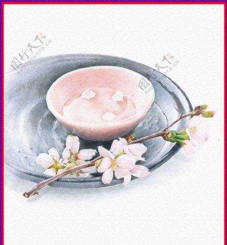 桃花枝图片