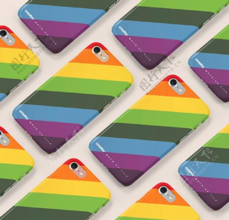 彩虹手机壳样机集合图片