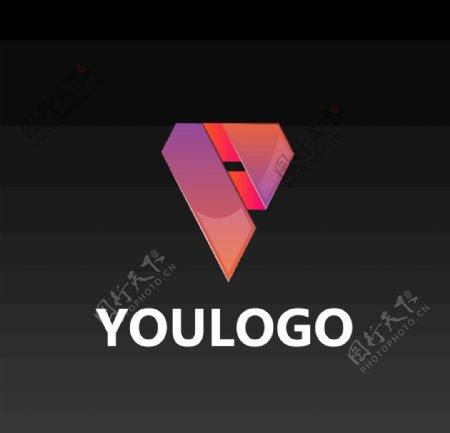 丝带logo设计图片