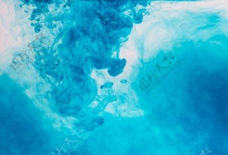 蓝色水彩背景图片