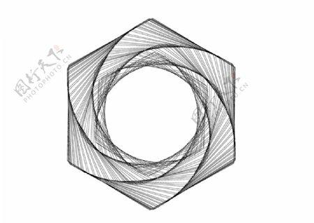 高级黑白立体几何图片