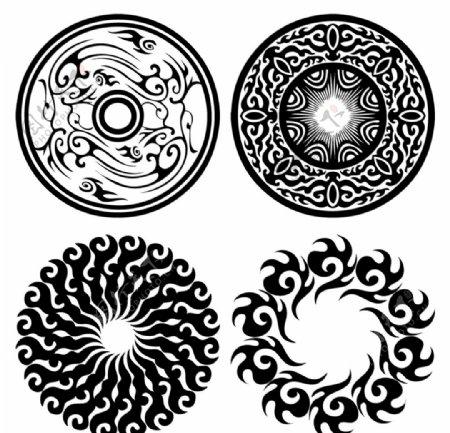 古代艺术传统圆形图案图片