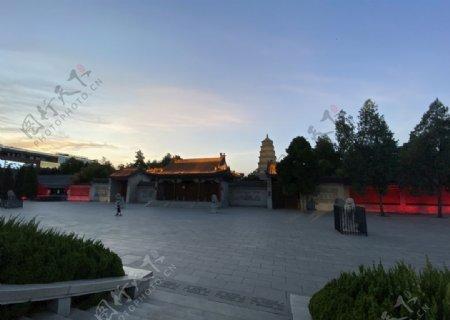 大雁塔南广场夜景图片