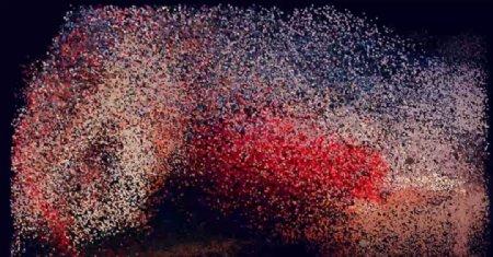 C4D片头动画爆炸的粉尘图片