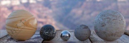 C4D材质木头地板大理石不锈图片