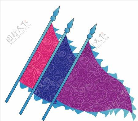 复古三角旗图片