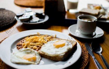 早餐面包鸡蛋图片