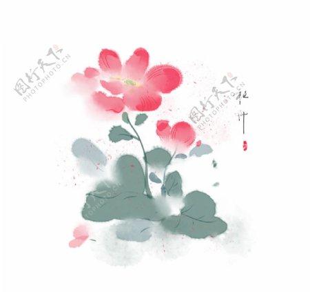 手绘牡丹花素材图片