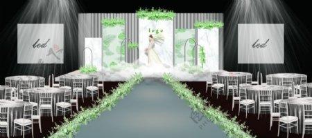 小清新婚礼效果图图片