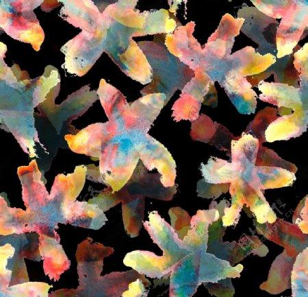 抽象海星图片