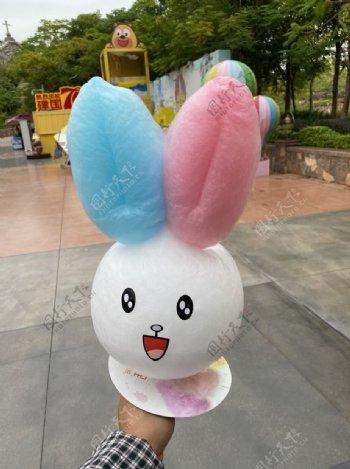 卡通棉花糖兔子花式棉花糖图片