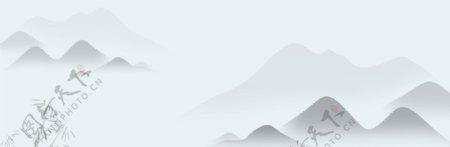 中国风简约水墨山水背景图片