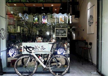 自行车文艺照片图片