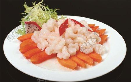 木瓜水晶虾图片