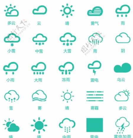天气预报矢量UI图标icon图片