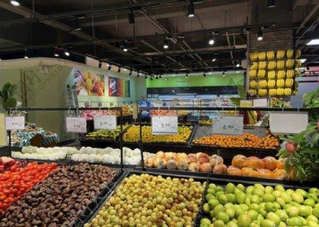 超市生鲜区图片
