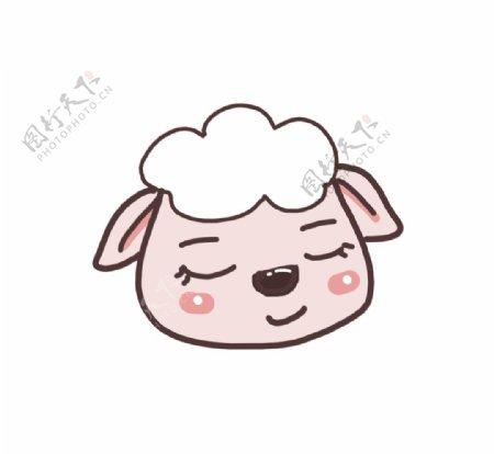 手绘绵羊表情包图片