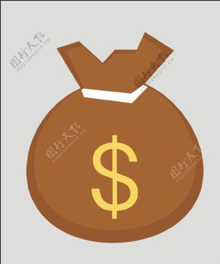 矢量钱袋金币图片