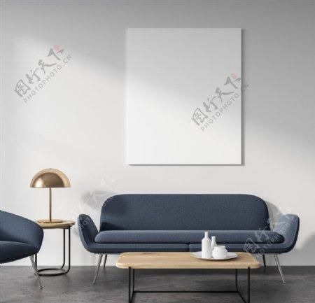 工业风简洁家居沙发客厅图片