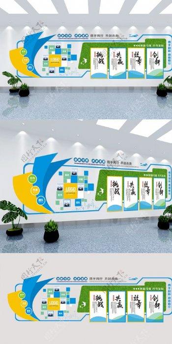 企业发展历程文化墙图片