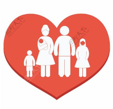 爱心里的一家人图片