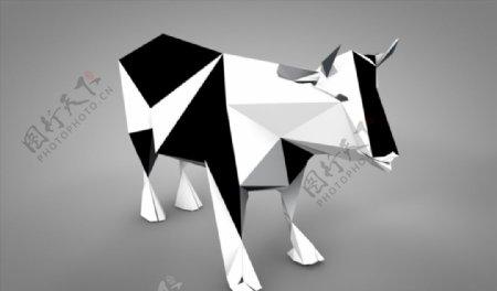 C4D模型奶牛图片