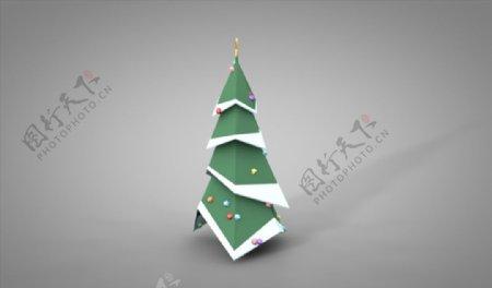 C4D模型圣诞树松树图片
