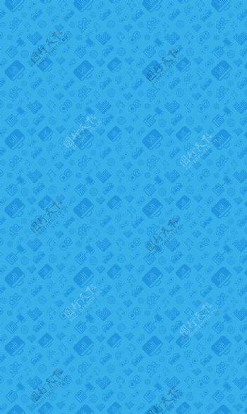音乐电脑元素天蓝色背景图片