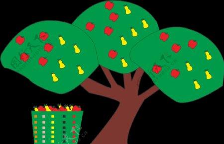 树苹果树梨树图片